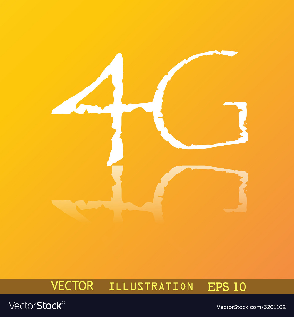 4g icon symbol flat modern web design with vector | Price: 1 Credit (USD $1)
