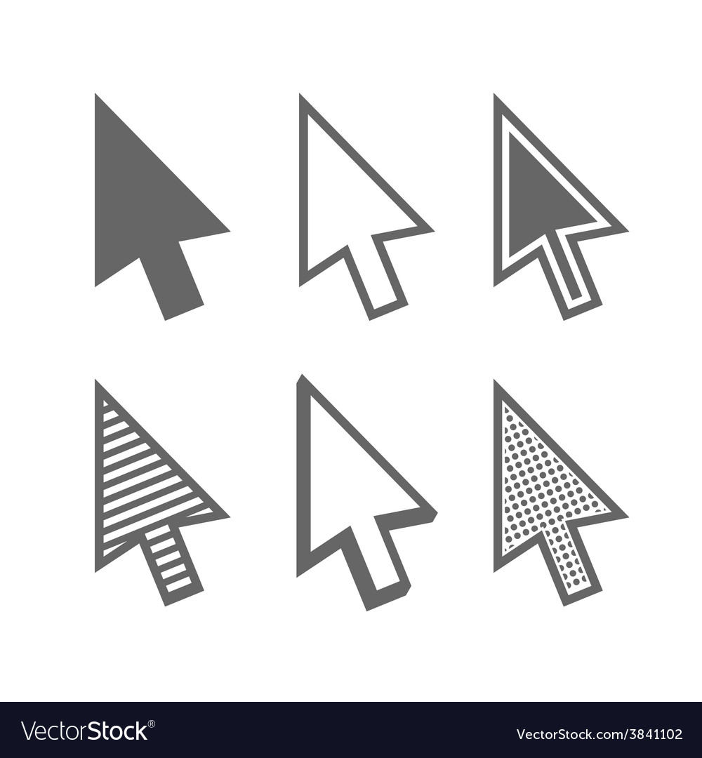 Arrow cursors vector | Price: 1 Credit (USD $1)