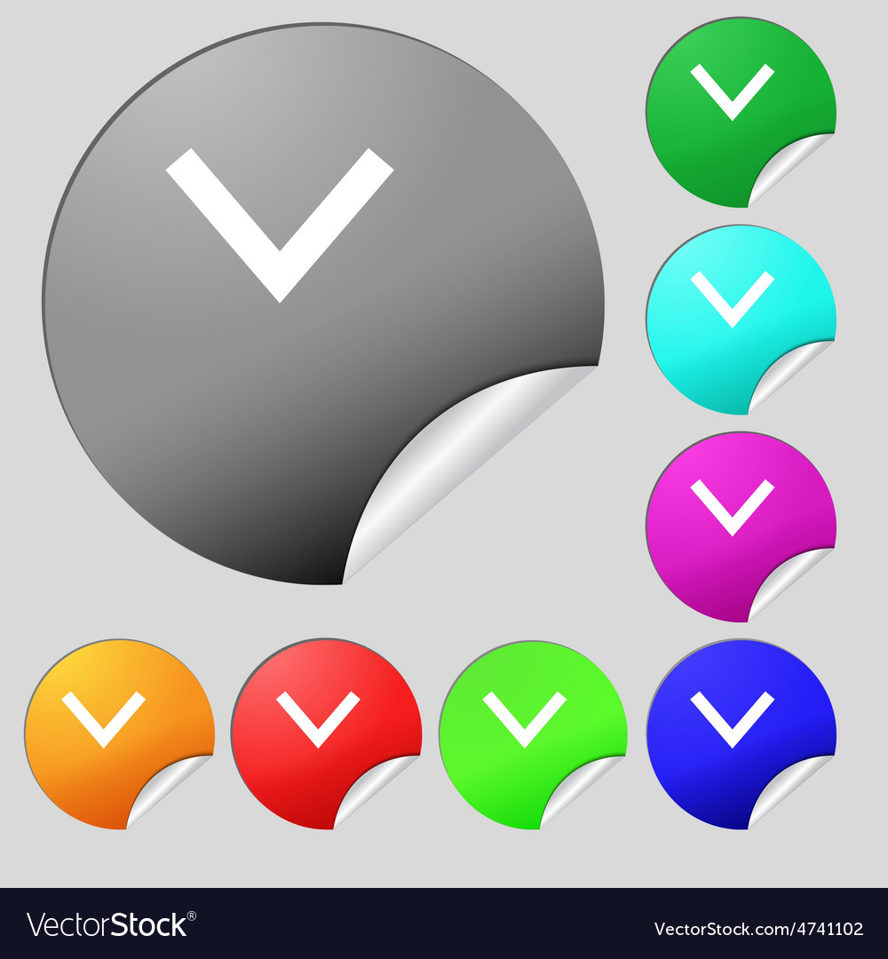 Arrow down download load backup icon sign set of vector | Price: 1 Credit (USD $1)