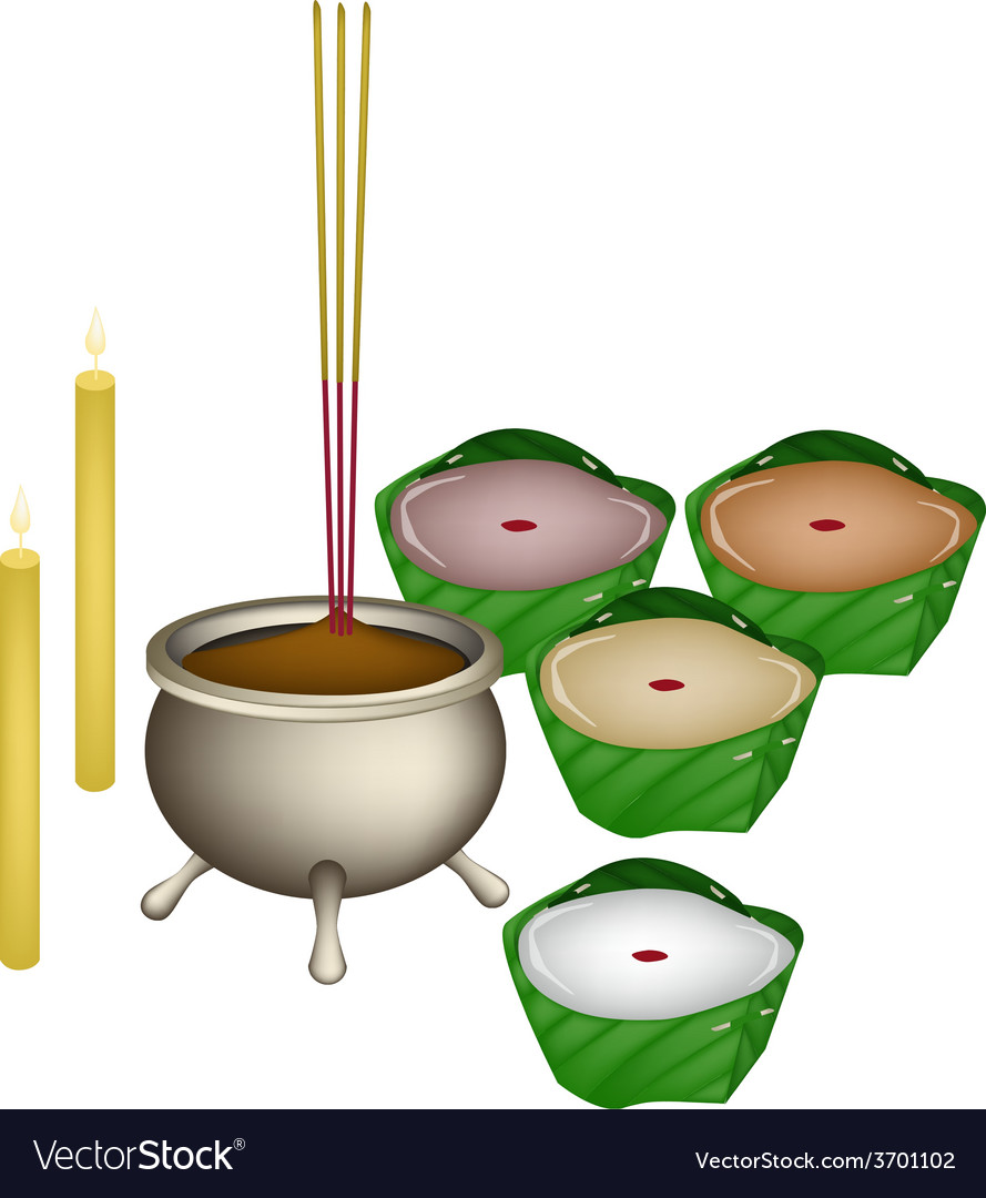 Chinese pudding or nian for new year worship vector | Price: 1 Credit (USD $1)