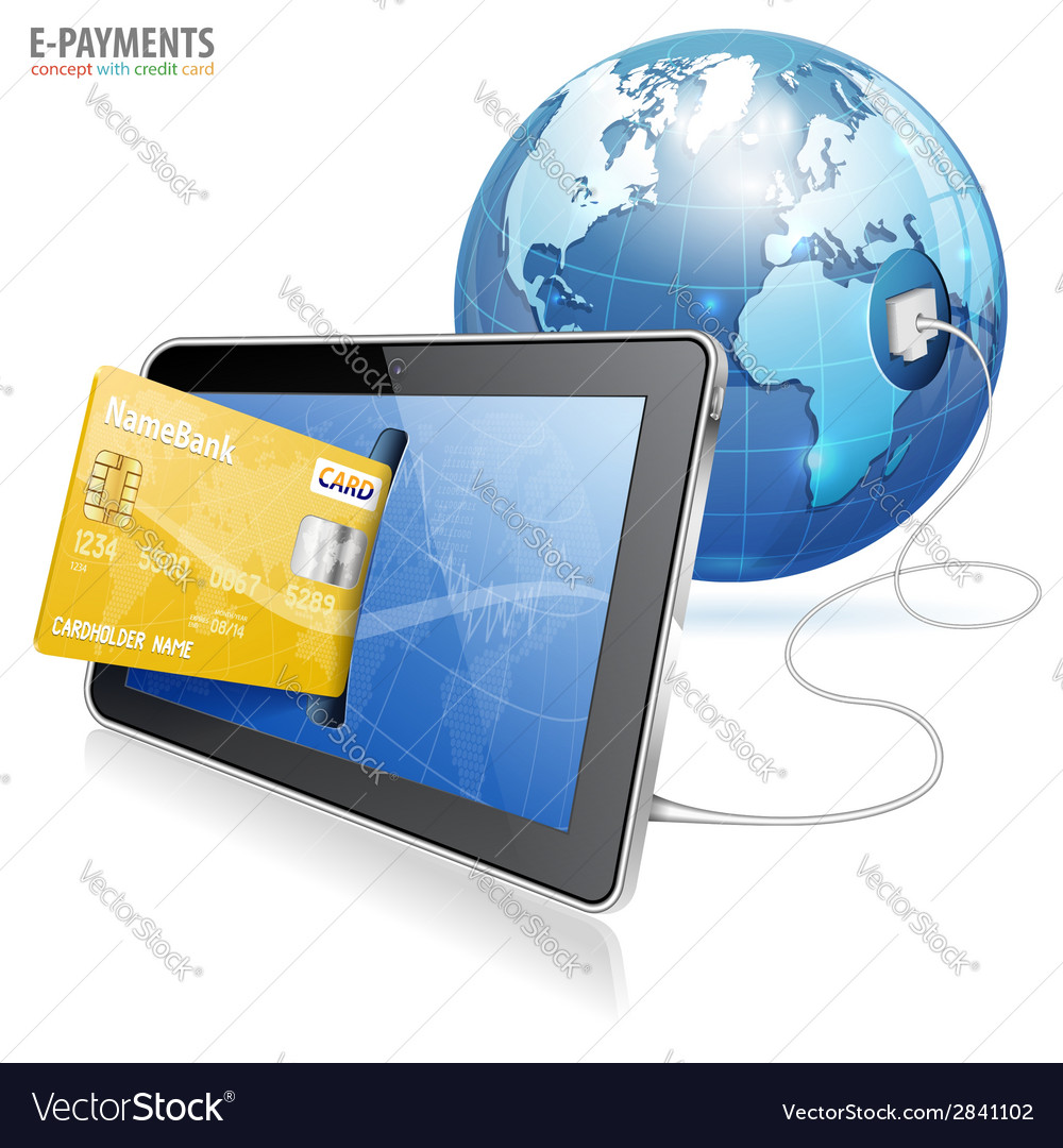 Electronic payment concept vector | Price: 1 Credit (USD $1)