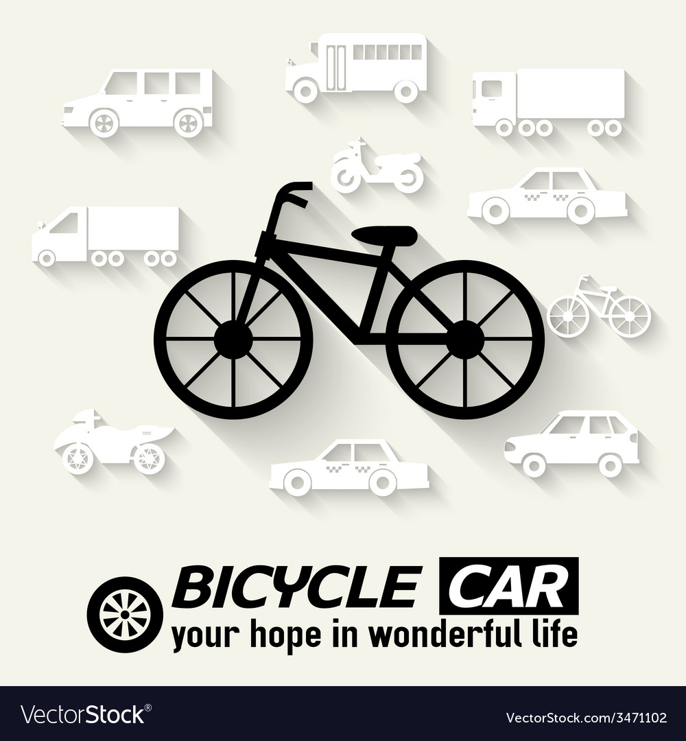 Flat bike background concept tamplate for web and vector | Price: 1 Credit (USD $1)