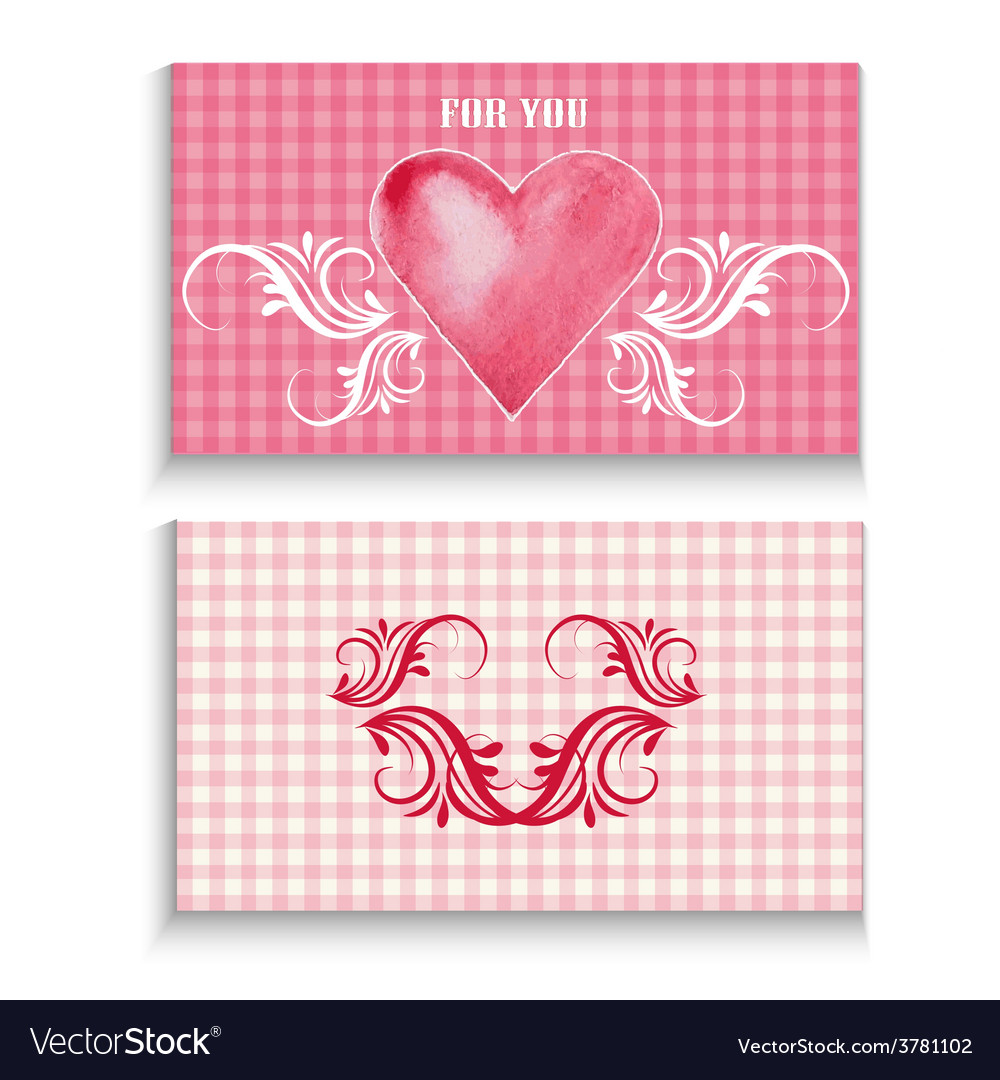 Flyer card with heart vector   Price: 1 Credit (USD $1)