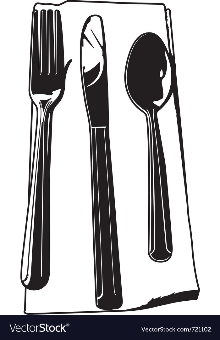 Fork knife spoon vector | Price: 1 Credit (USD $1)