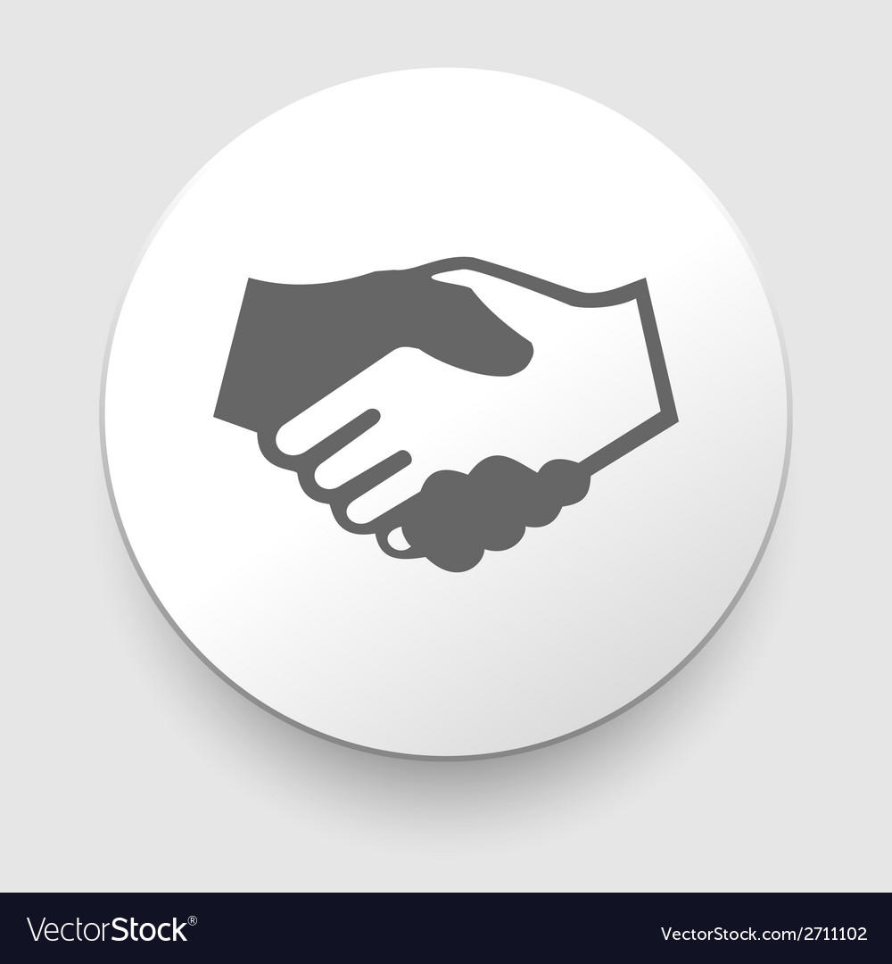 Handshake icon - business concept vector | Price: 1 Credit (USD $1)