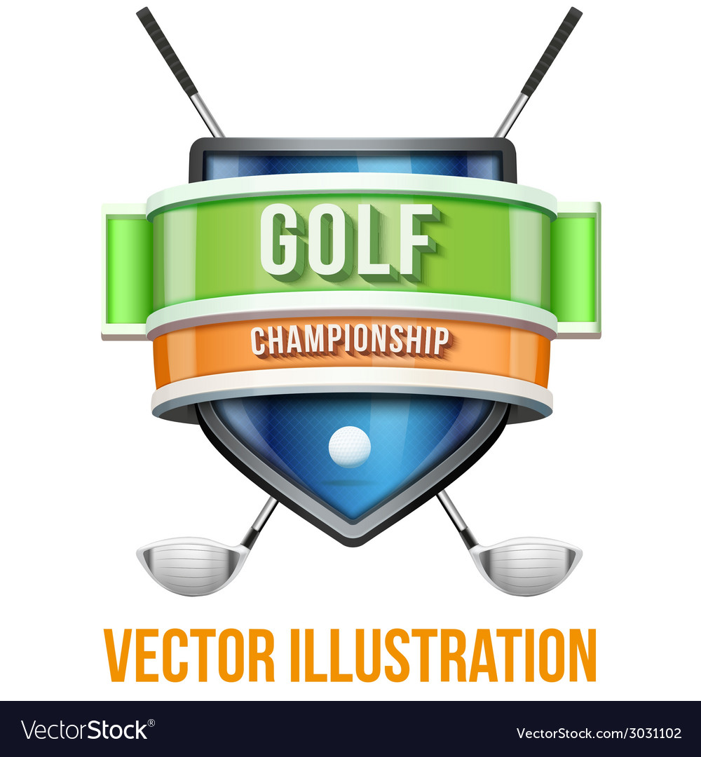 Label for golf sport competition bright premium vector | Price: 1 Credit (USD $1)