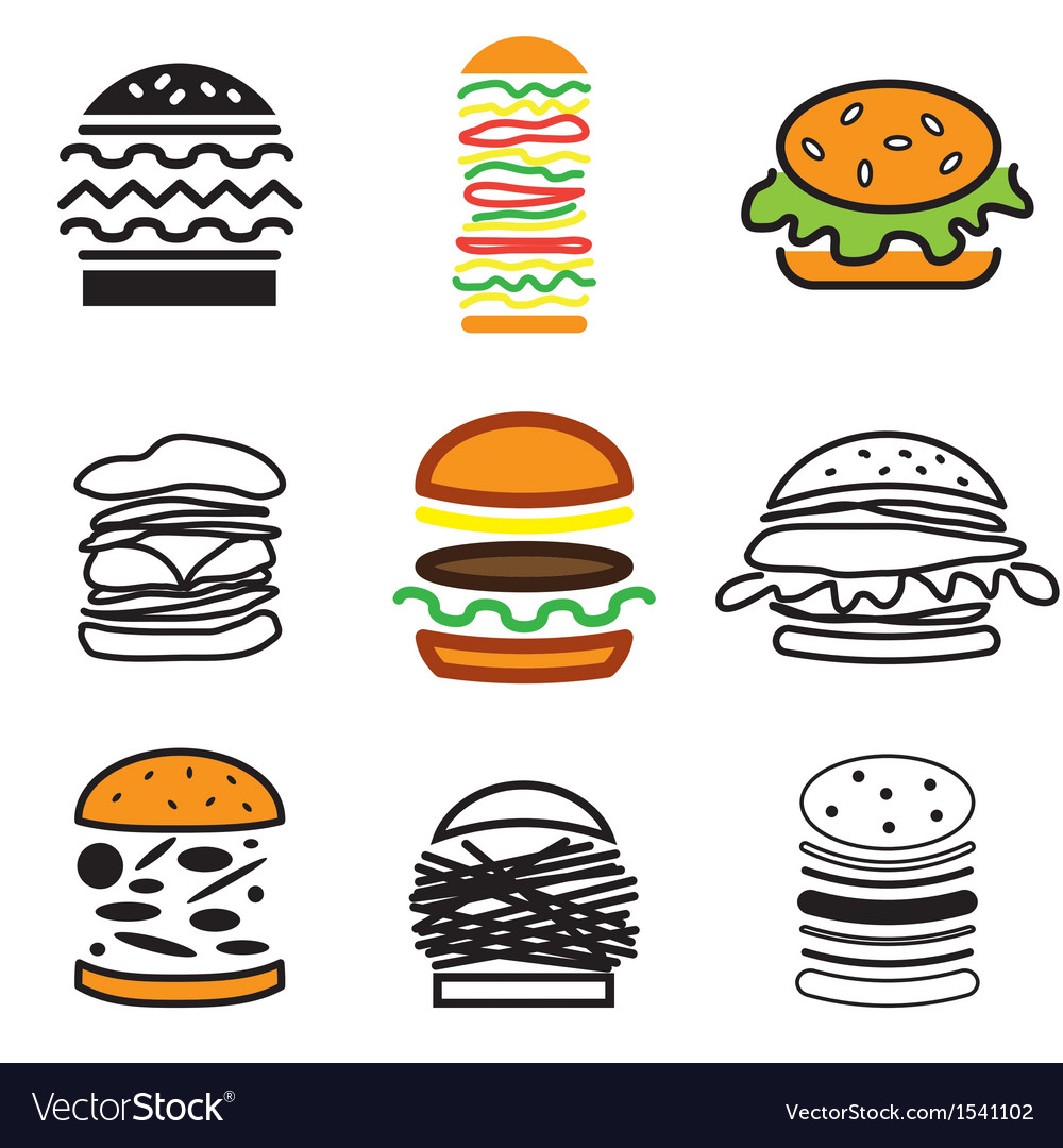 Logo icons burger vector | Price: 1 Credit (USD $1)