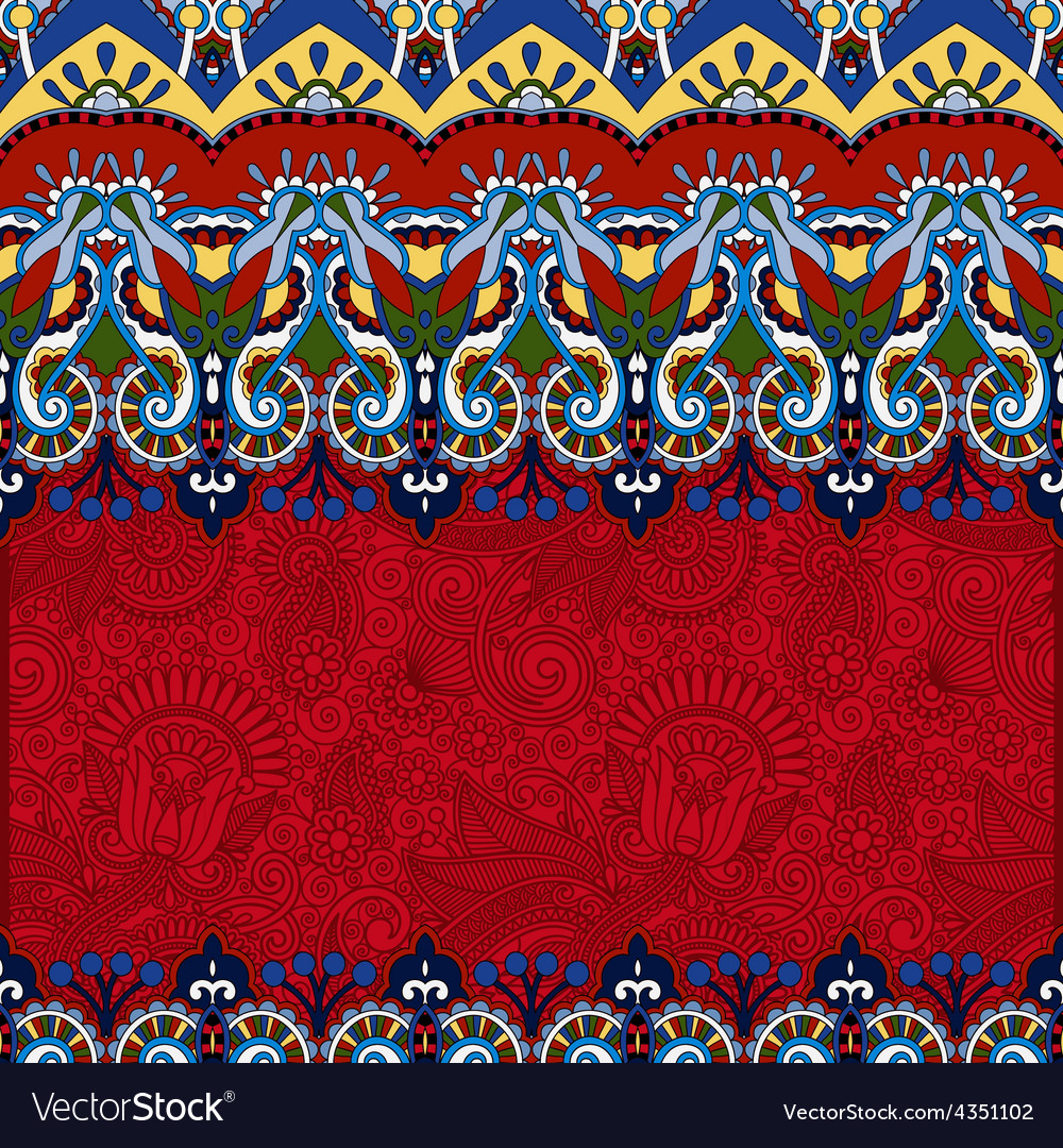 Red ornamental floral folkloric background for vector   Price: 1 Credit (USD $1)