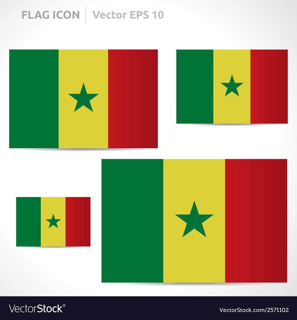 Senegal flag template vector | Price: 1 Credit (USD $1)