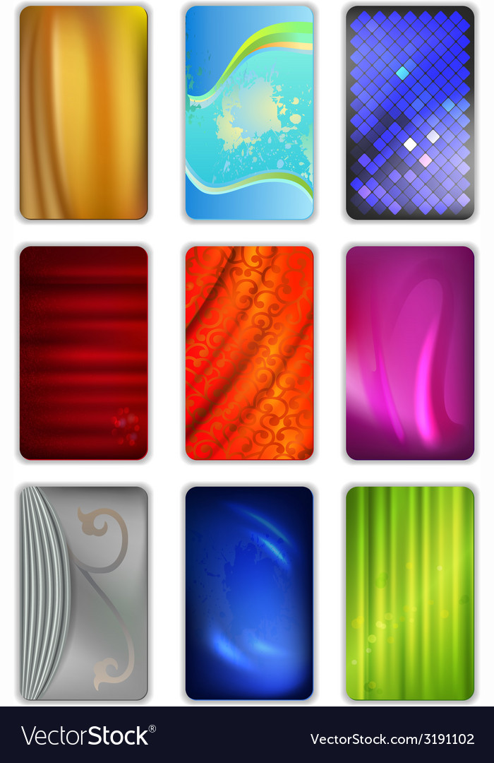 Set abstract colored drapery background vector | Price: 1 Credit (USD $1)