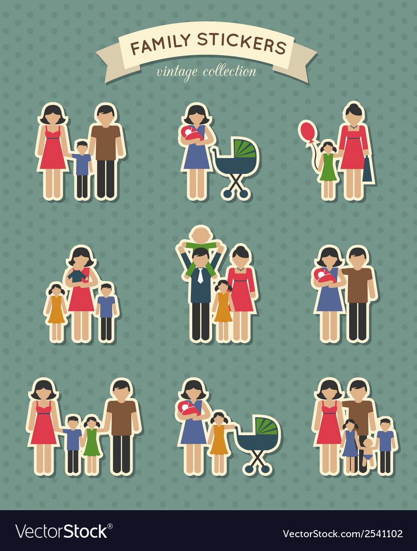 Set of color family icons vector | Price: 1 Credit (USD $1)