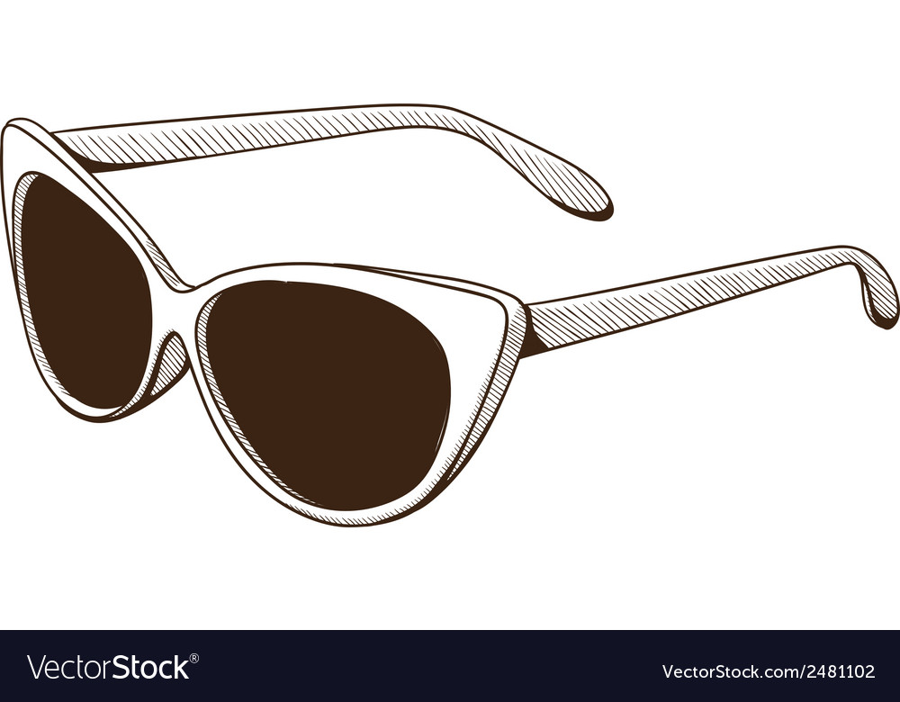 Sunglasses isolated on white vector | Price: 1 Credit (USD $1)