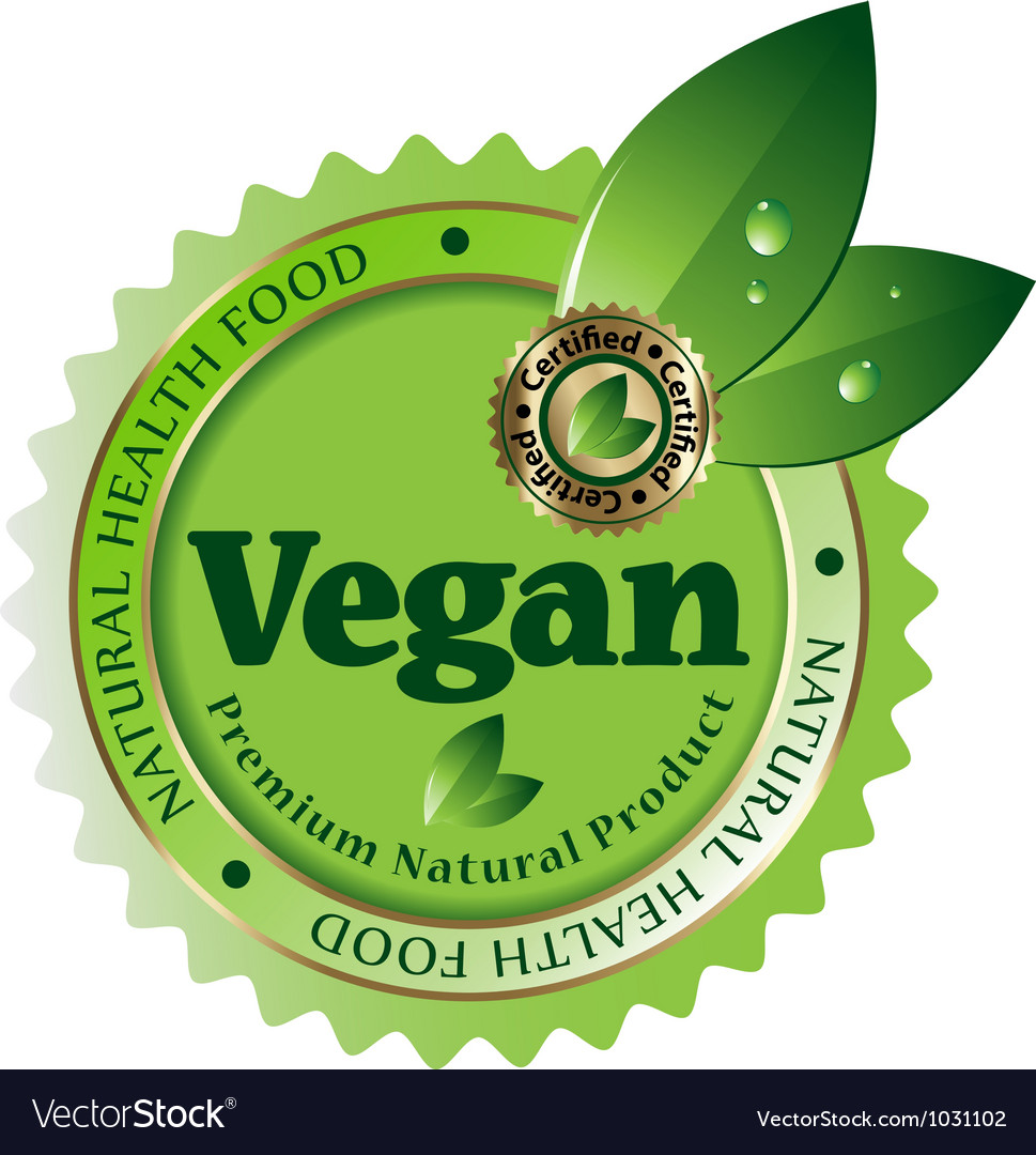 Vegan label vector | Price: 1 Credit (USD $1)