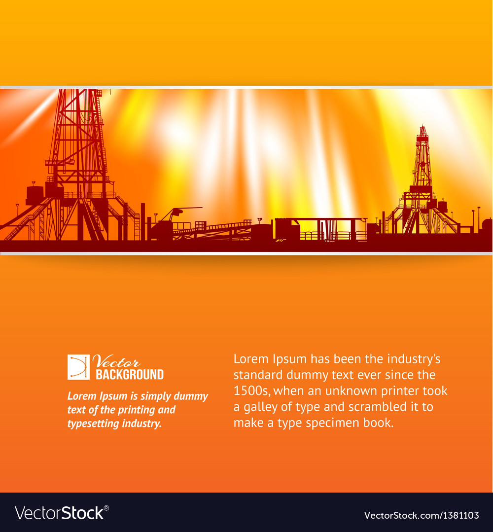 Abstract oil rig background vector | Price: 1 Credit (USD $1)
