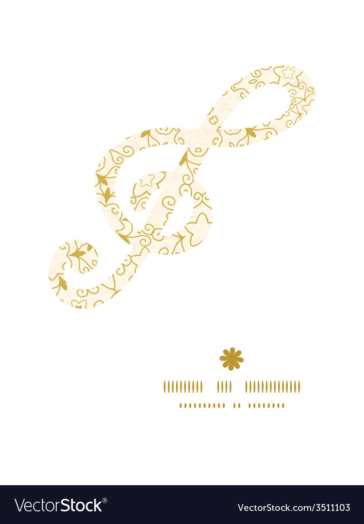 Abstract swirls old paper texture g clef musical vector | Price: 1 Credit (USD $1)