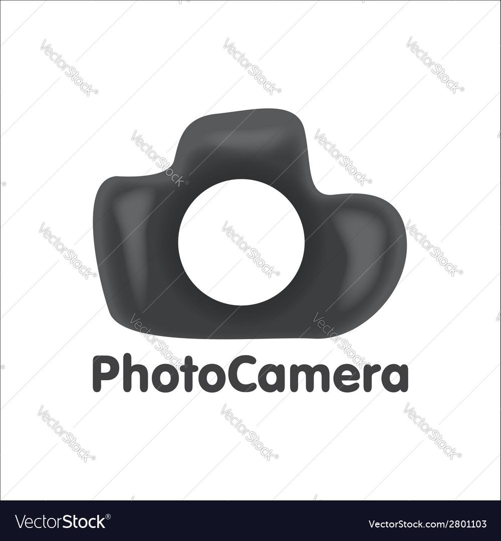 Art logo dslr photo camera vector | Price: 1 Credit (USD $1)