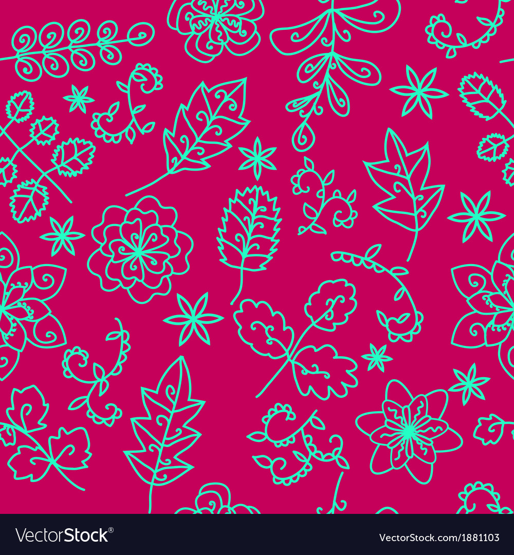 Bright floral seamless patern vector | Price: 1 Credit (USD $1)