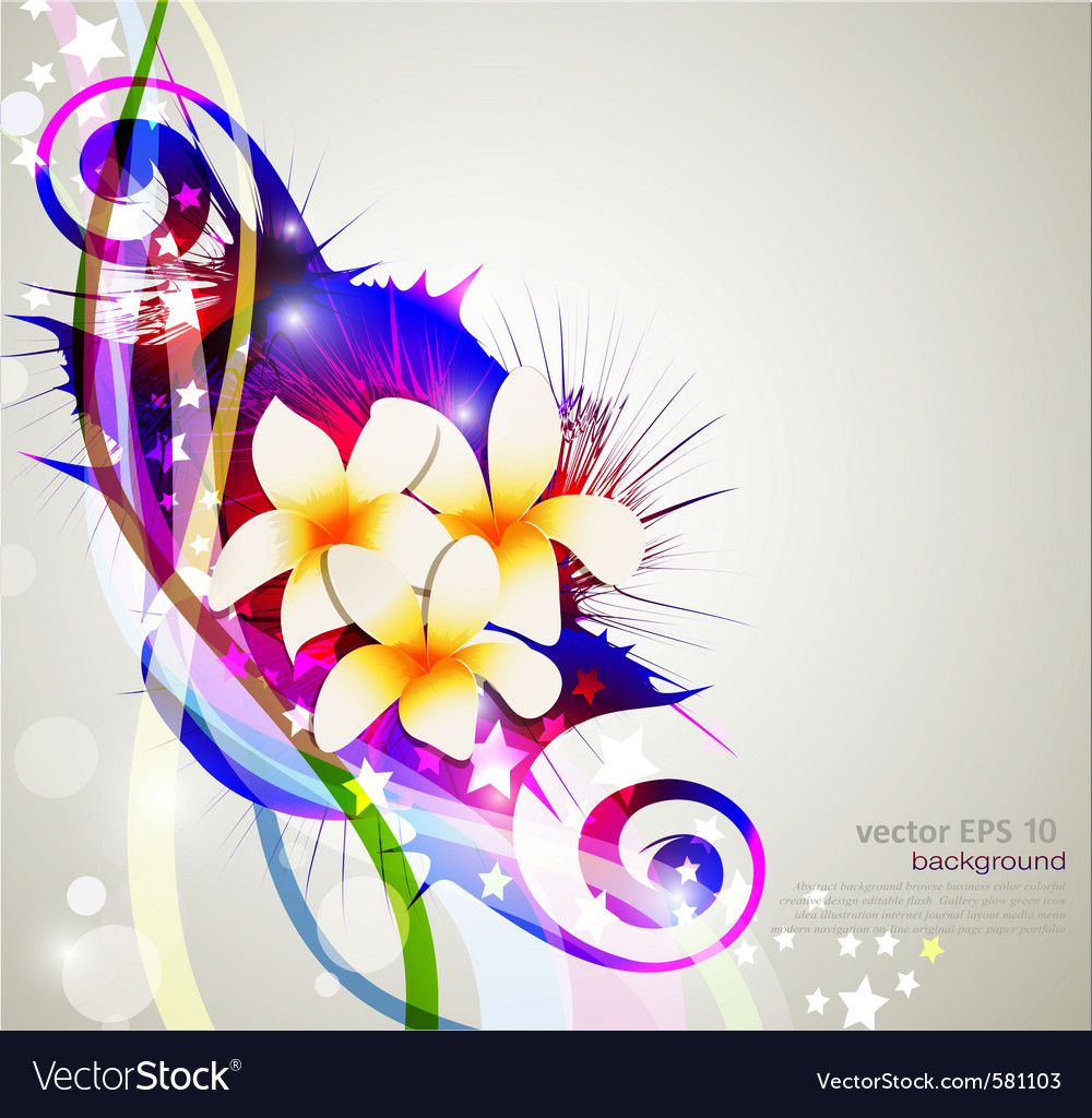 Celebration background with flowers vector | Price: 1 Credit (USD $1)