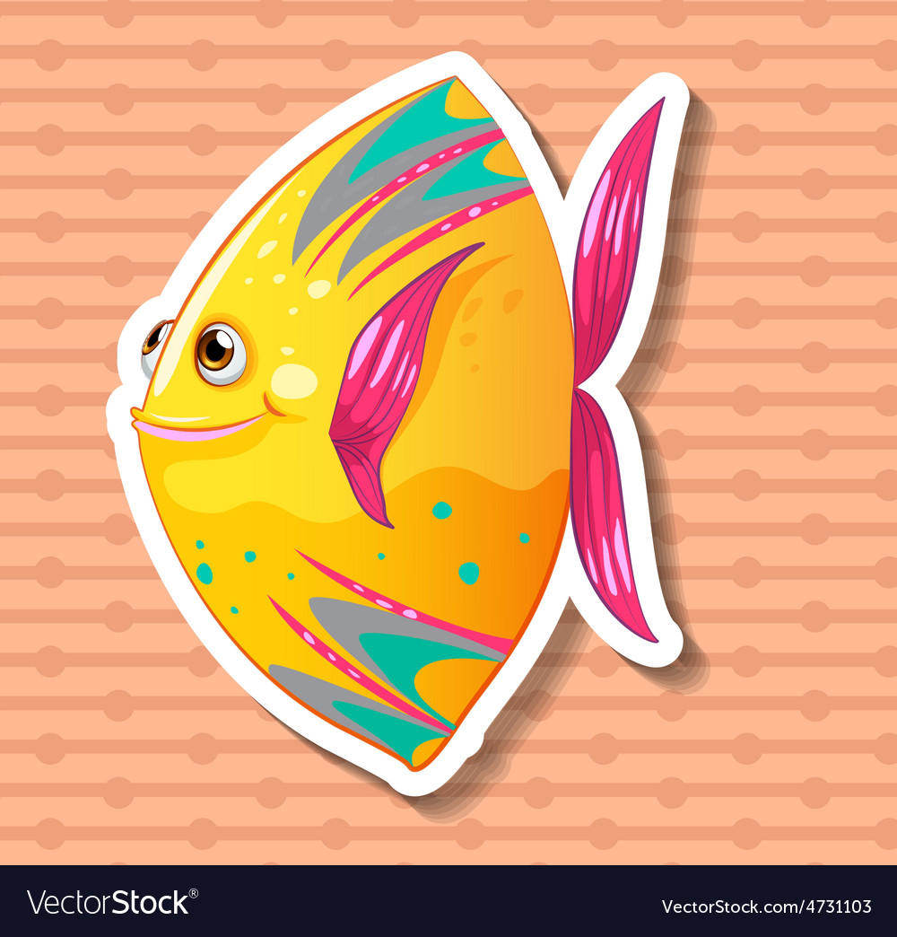 Fancy fish vector | Price: 1 Credit (USD $1)