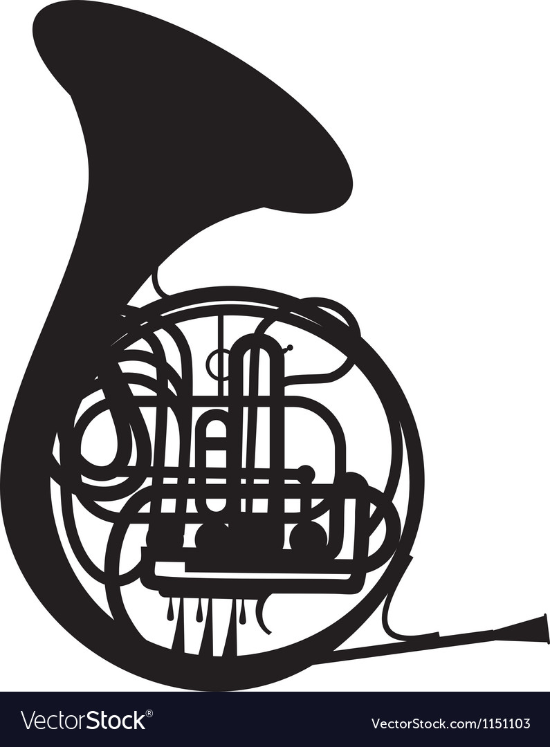 French horn vector | Price: 1 Credit (USD $1)