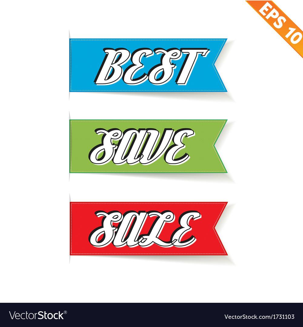 Label stitch sale tag - - eps10 vector | Price: 1 Credit (USD $1)