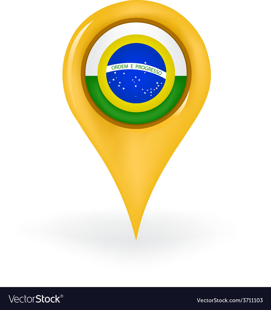 Location brazil vector | Price: 1 Credit (USD $1)