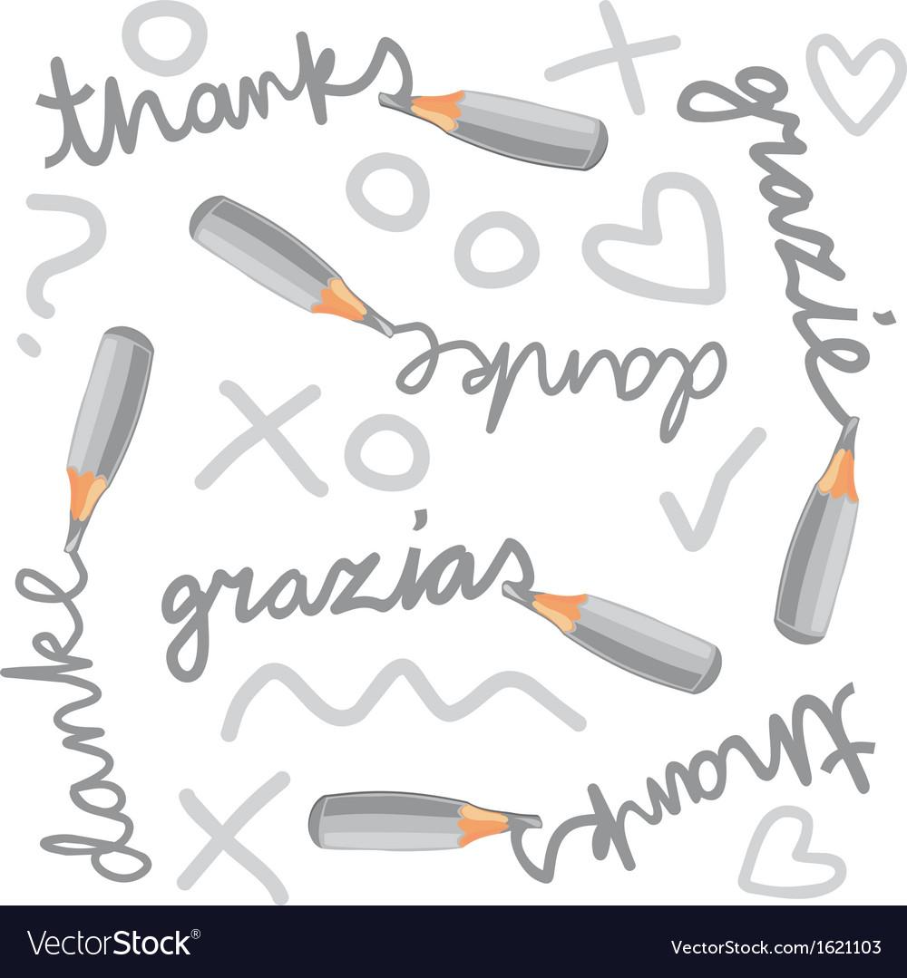 Mini pencil doodle vector | Price: 1 Credit (USD $1)