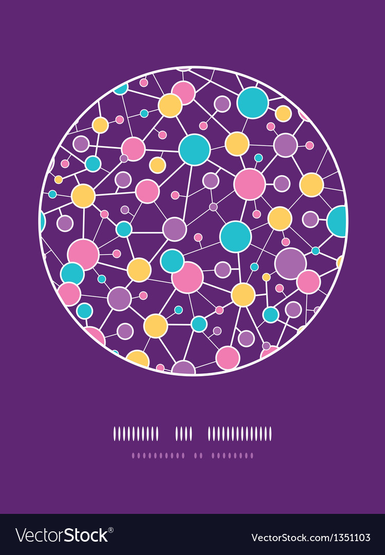 Molecular structure circle seamless pattern vector | Price: 1 Credit (USD $1)