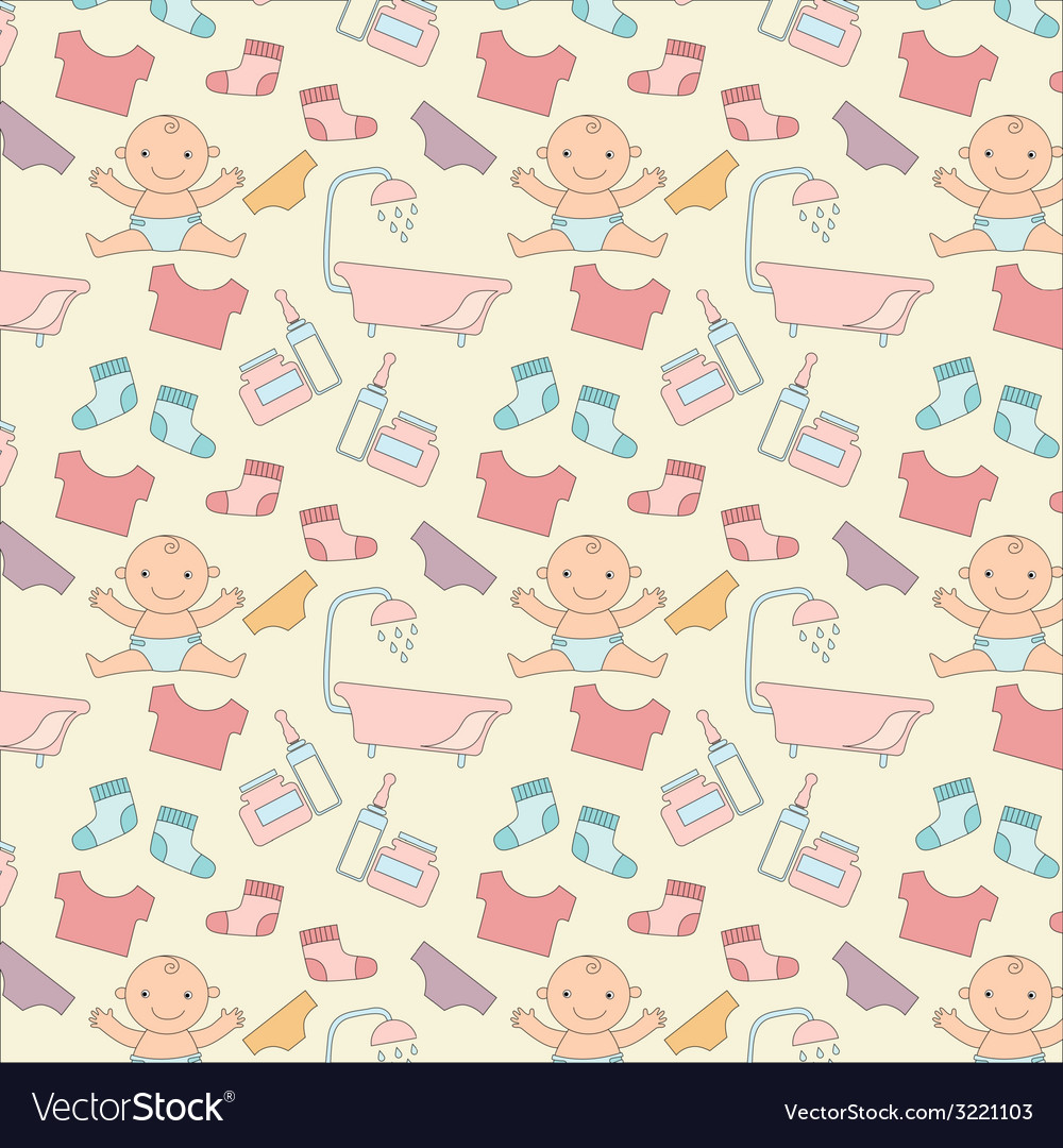 Pattern with baby vector | Price: 1 Credit (USD $1)