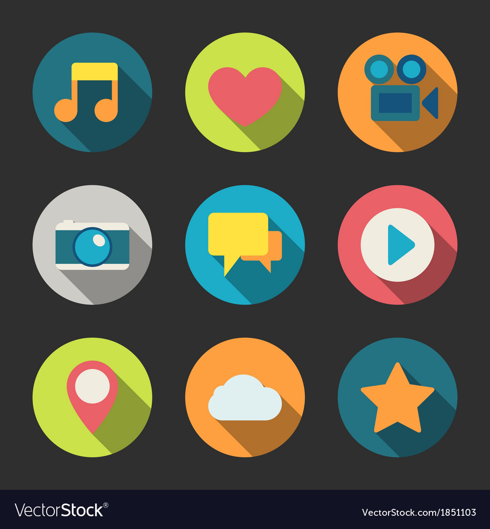 Social media icons set for blogging vector | Price: 1 Credit (USD $1)