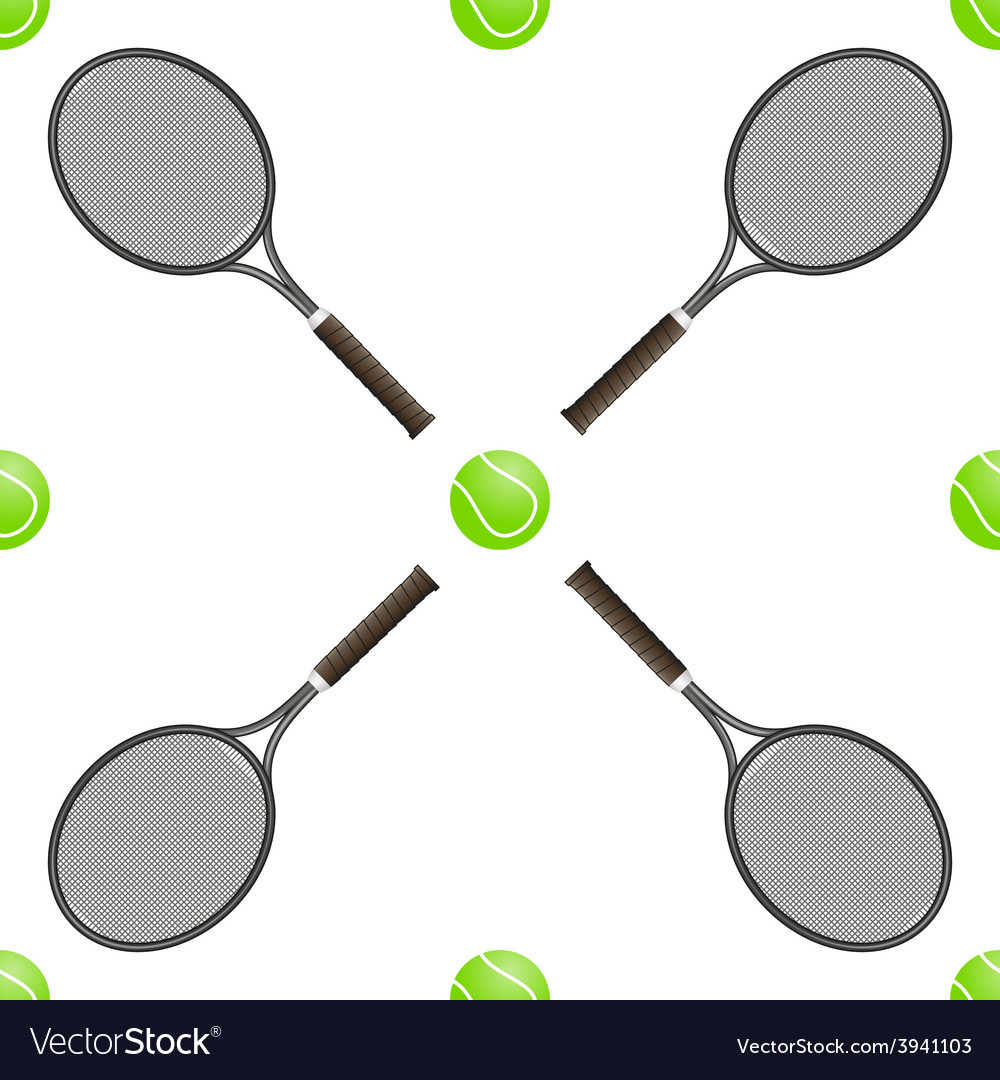 Universal tennis seamless patterns tiling vector | Price: 1 Credit (USD $1)