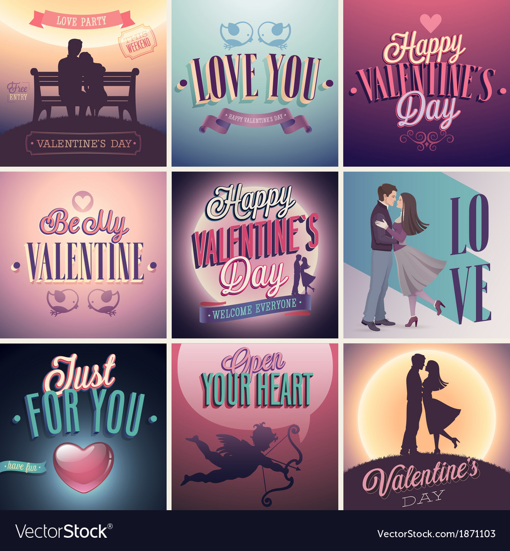 Vday set vector | Price: 3 Credit (USD $3)