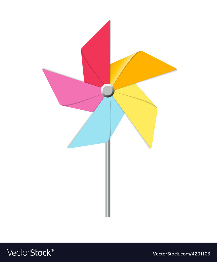 Windmill toy vector | Price: 1 Credit (USD $1)