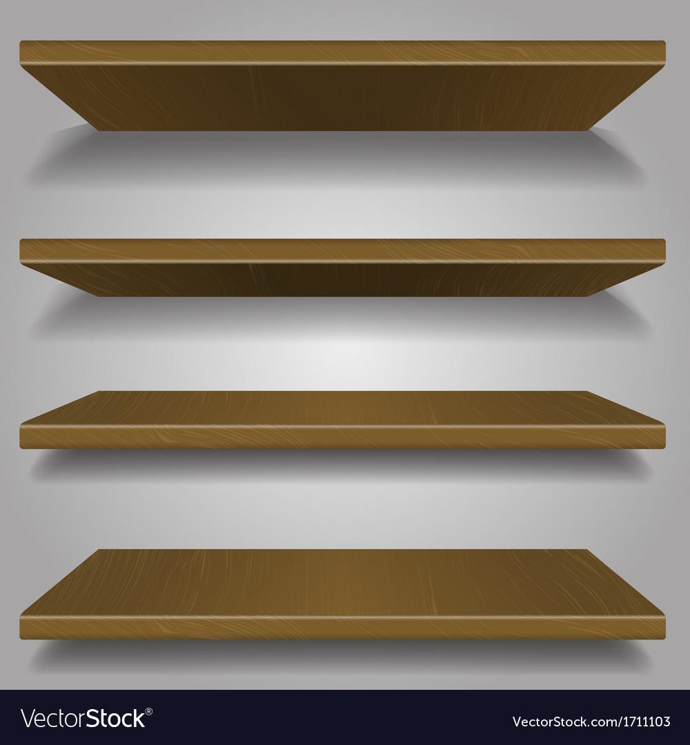 Wood bookshelf design vector | Price: 1 Credit (USD $1)
