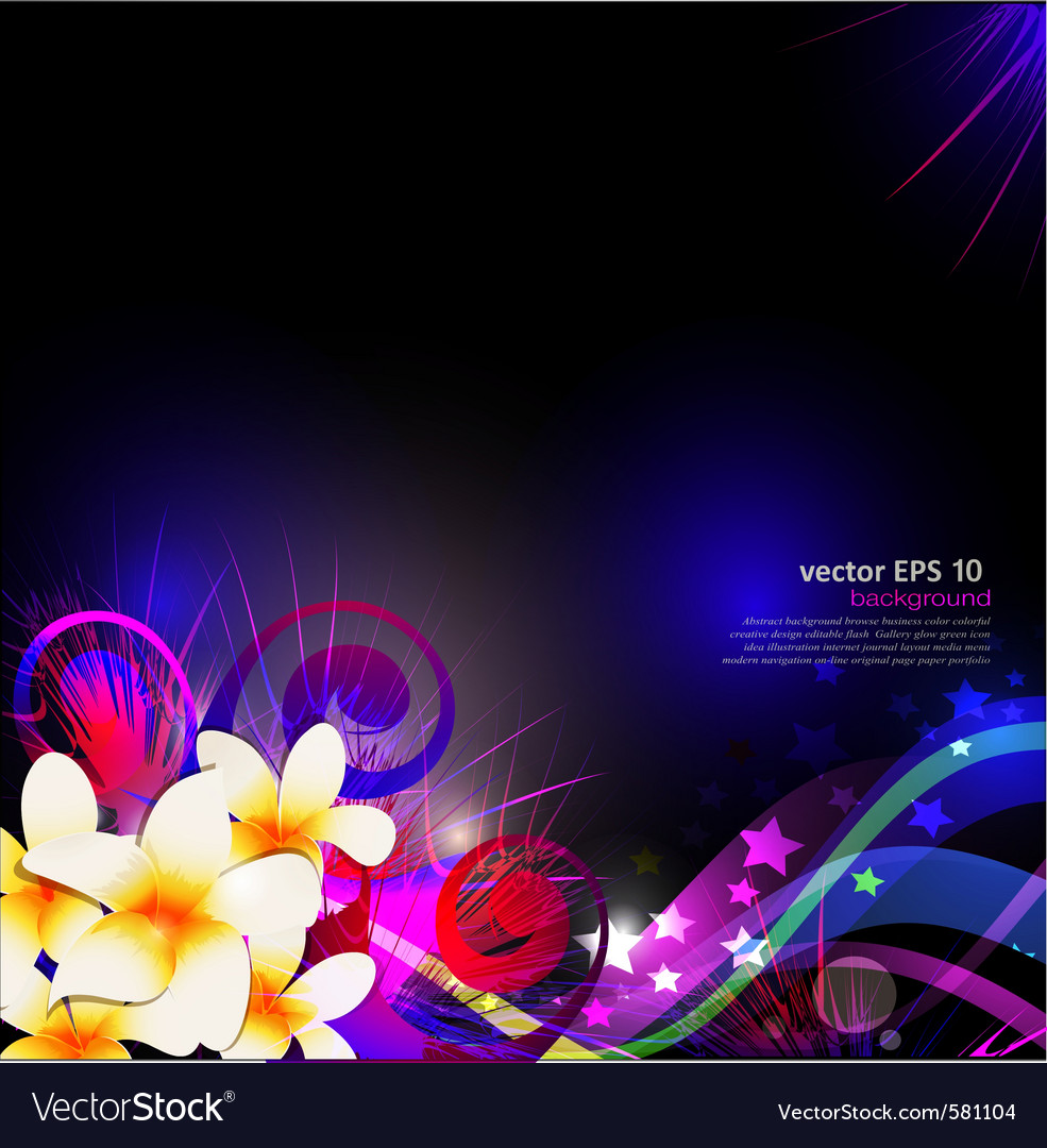 Abstract background celebration with flowers vector | Price: 1 Credit (USD $1)