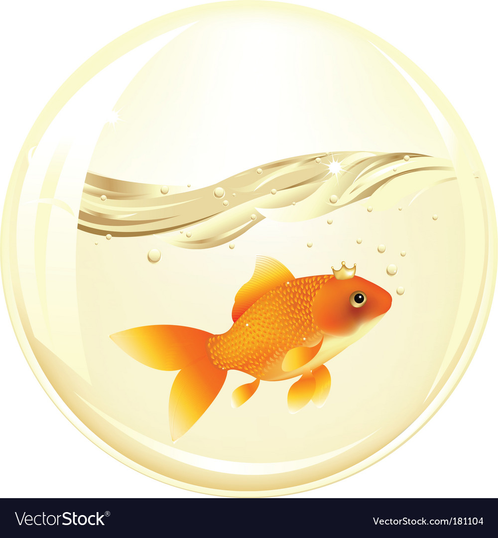 Ball with goldfish vector | Price: 1 Credit (USD $1)