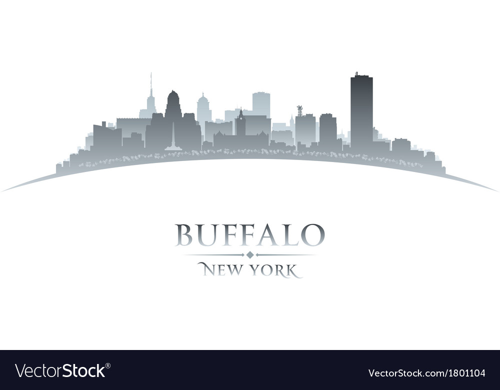 Buffalo new york city skyline silhouette vector | Price: 1 Credit (USD $1)