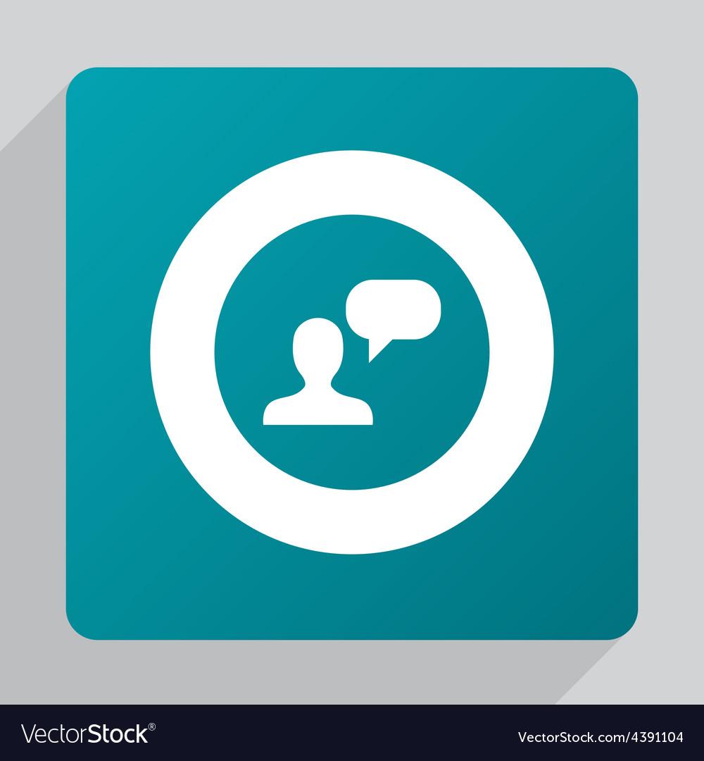 Flat conversation icon vector | Price: 1 Credit (USD $1)