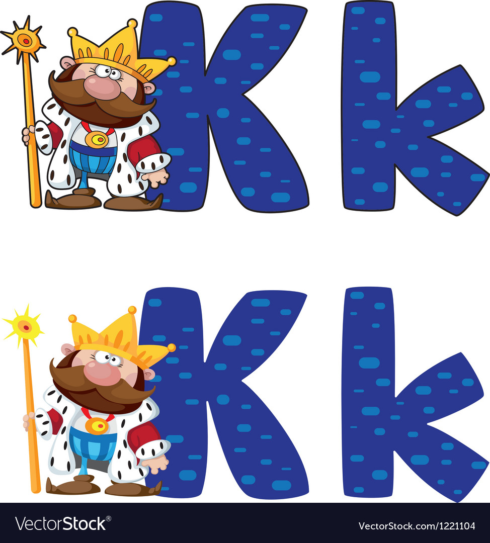 Letter k king vector | Price: 1 Credit (USD $1)