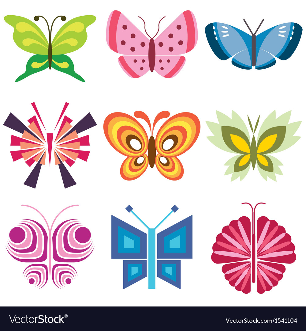 Logo icons butterfly vector | Price: 3 Credit (USD $3)