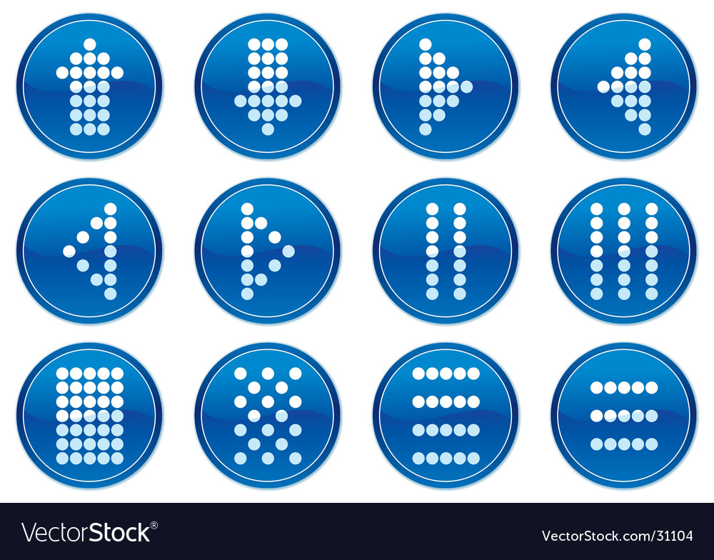 Matrix symbols icon vector | Price: 1 Credit (USD $1)