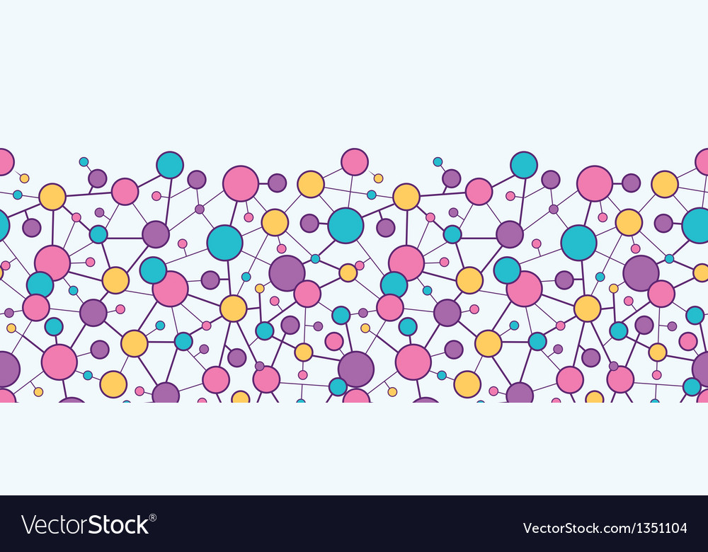 Molecular structure horizontal seamless pattern vector | Price: 1 Credit (USD $1)