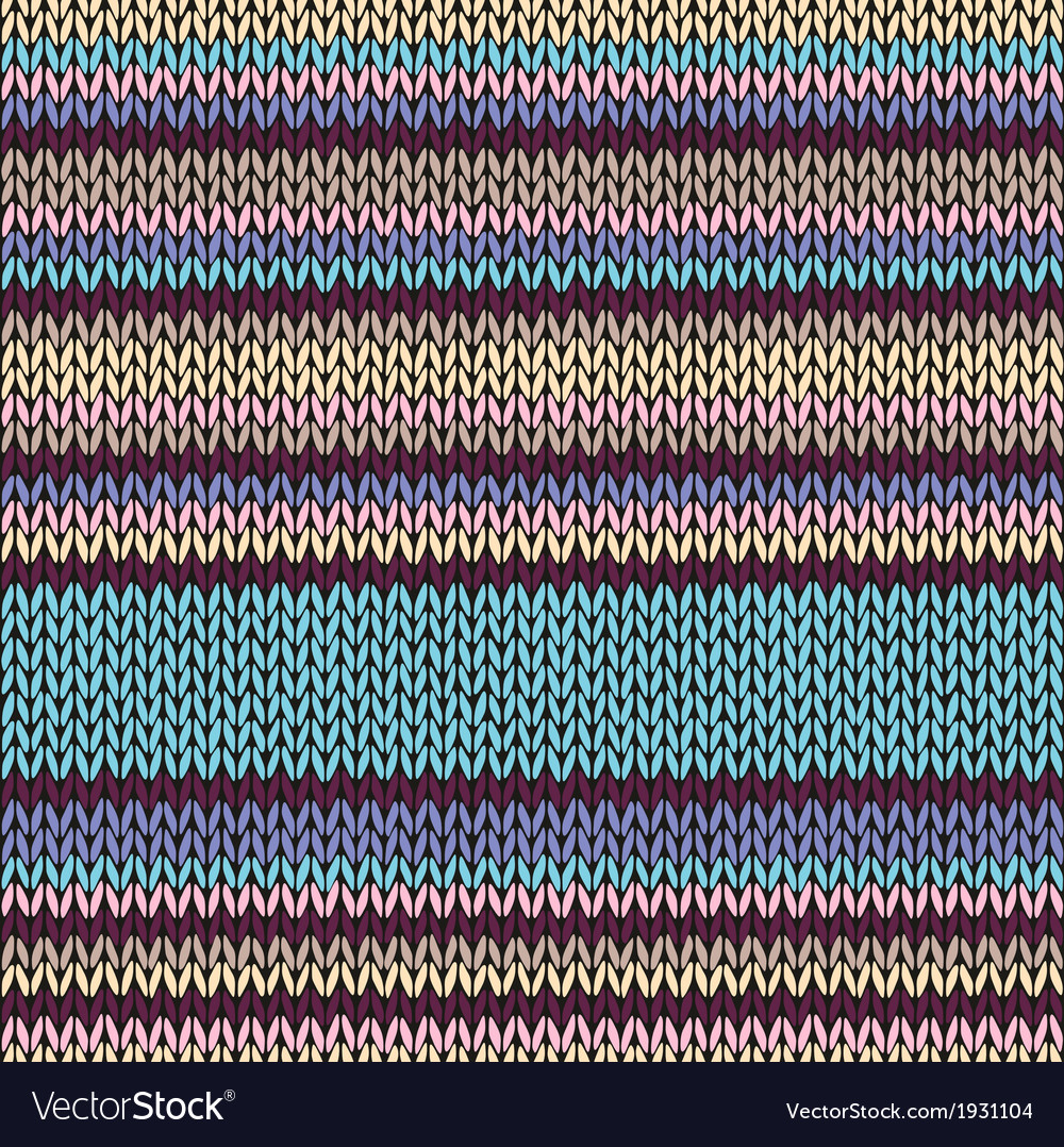 Seamless color striped knitted pattern vector | Price: 1 Credit (USD $1)