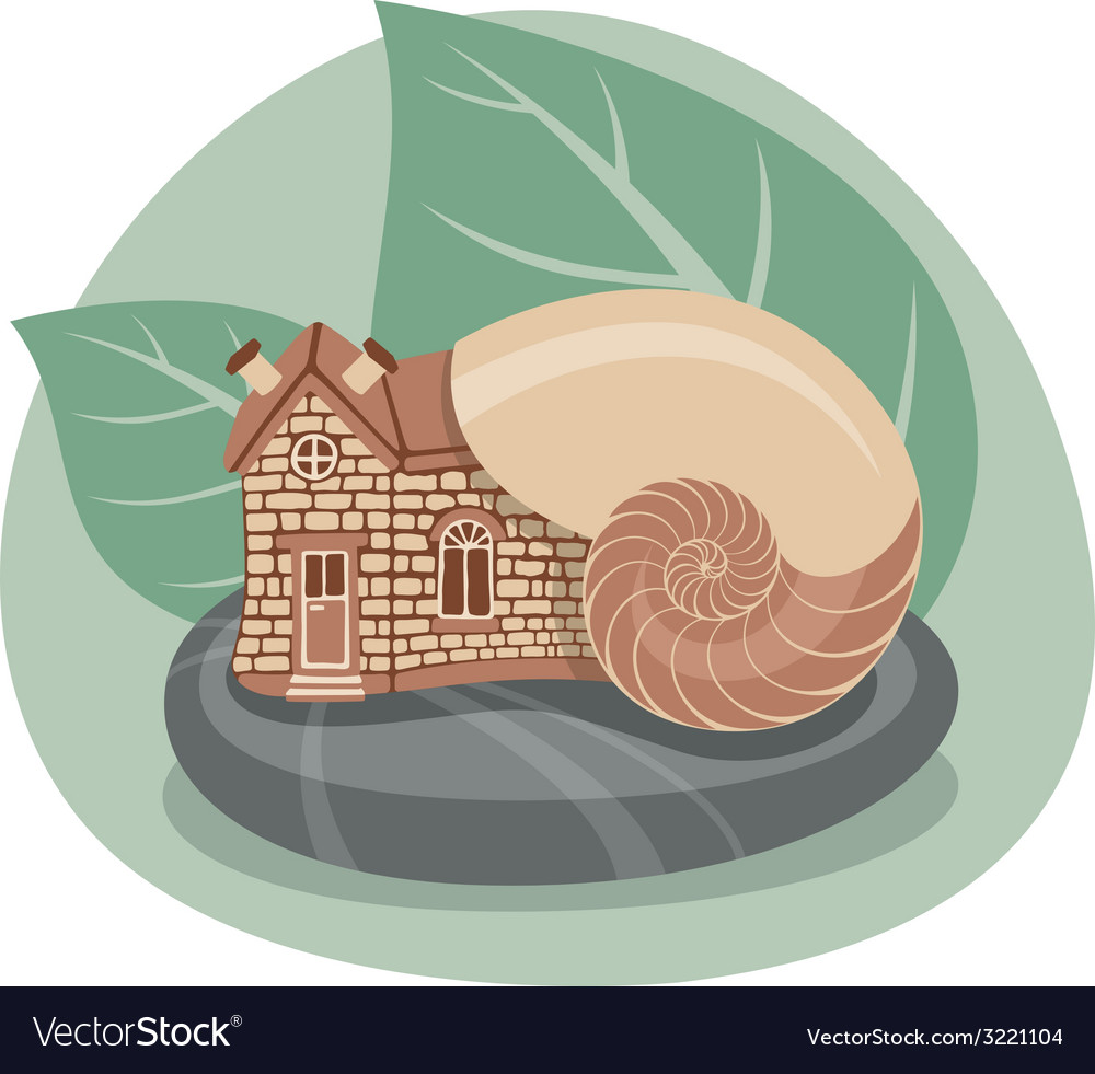 Snail house vector | Price: 1 Credit (USD $1)