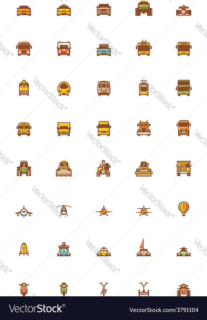 Transport icon set vector | Price: 1 Credit (USD $1)