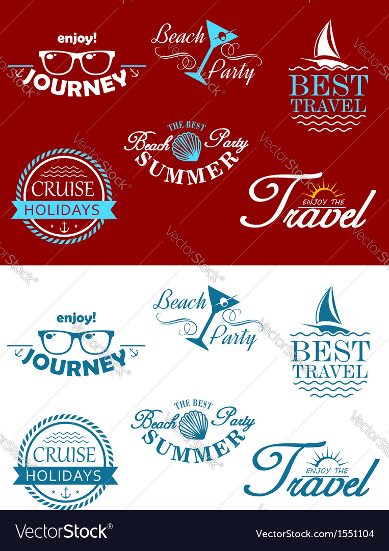 Travel headers and tags vector | Price: 1 Credit (USD $1)