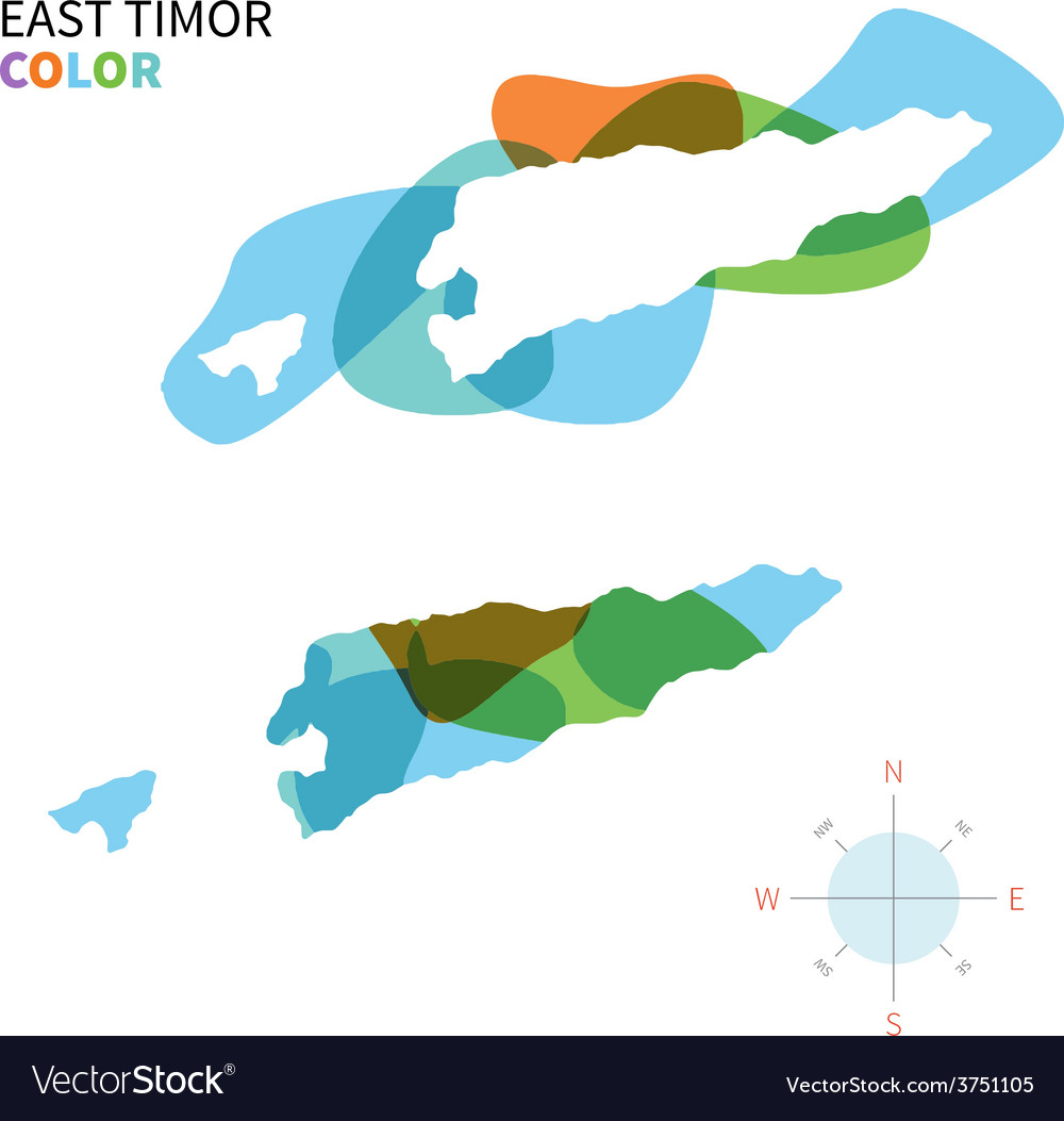 Abstract color map of east timor vector | Price: 1 Credit (USD $1)