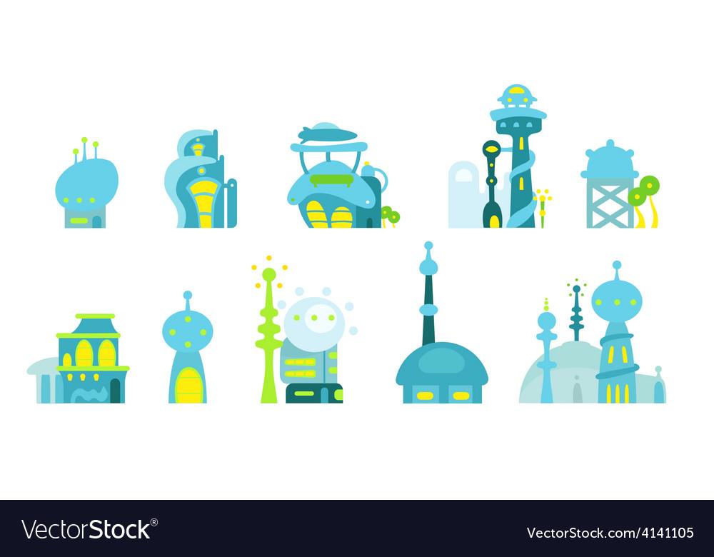 City future fantastic vector | Price: 1 Credit (USD $1)