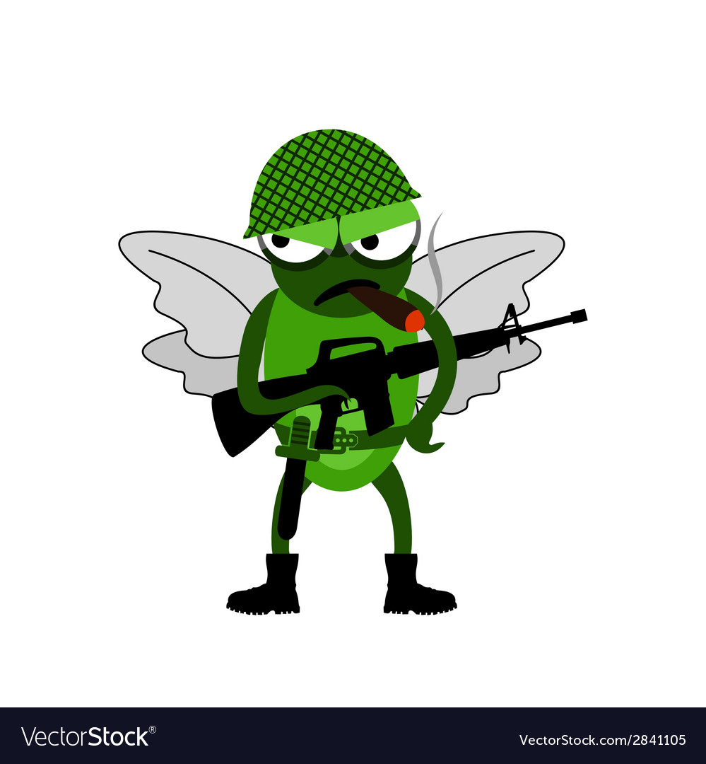 Fly of soldiers vector | Price: 1 Credit (USD $1)