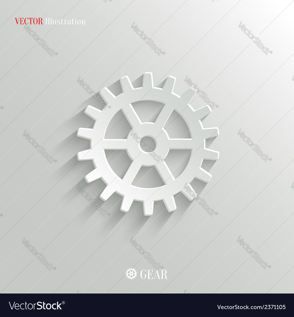 Gear icon - web background vector | Price: 1 Credit (USD $1)